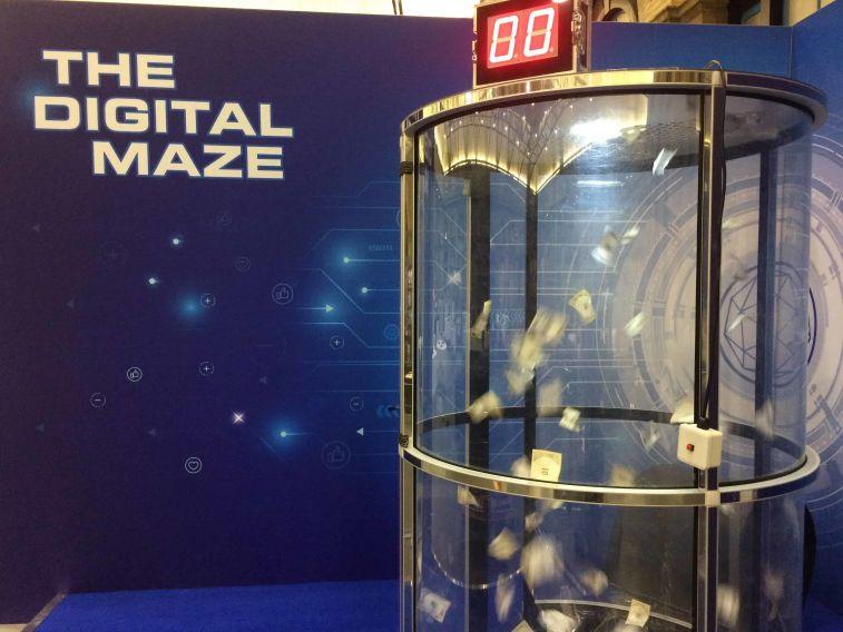 Exhibition Booth Building : Cash grabber hire grab a grand event entertainment