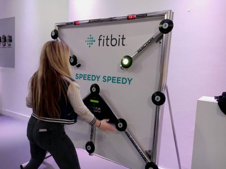 Batak reaction game complete with branded backdrop for the sport brand, Fitbit.