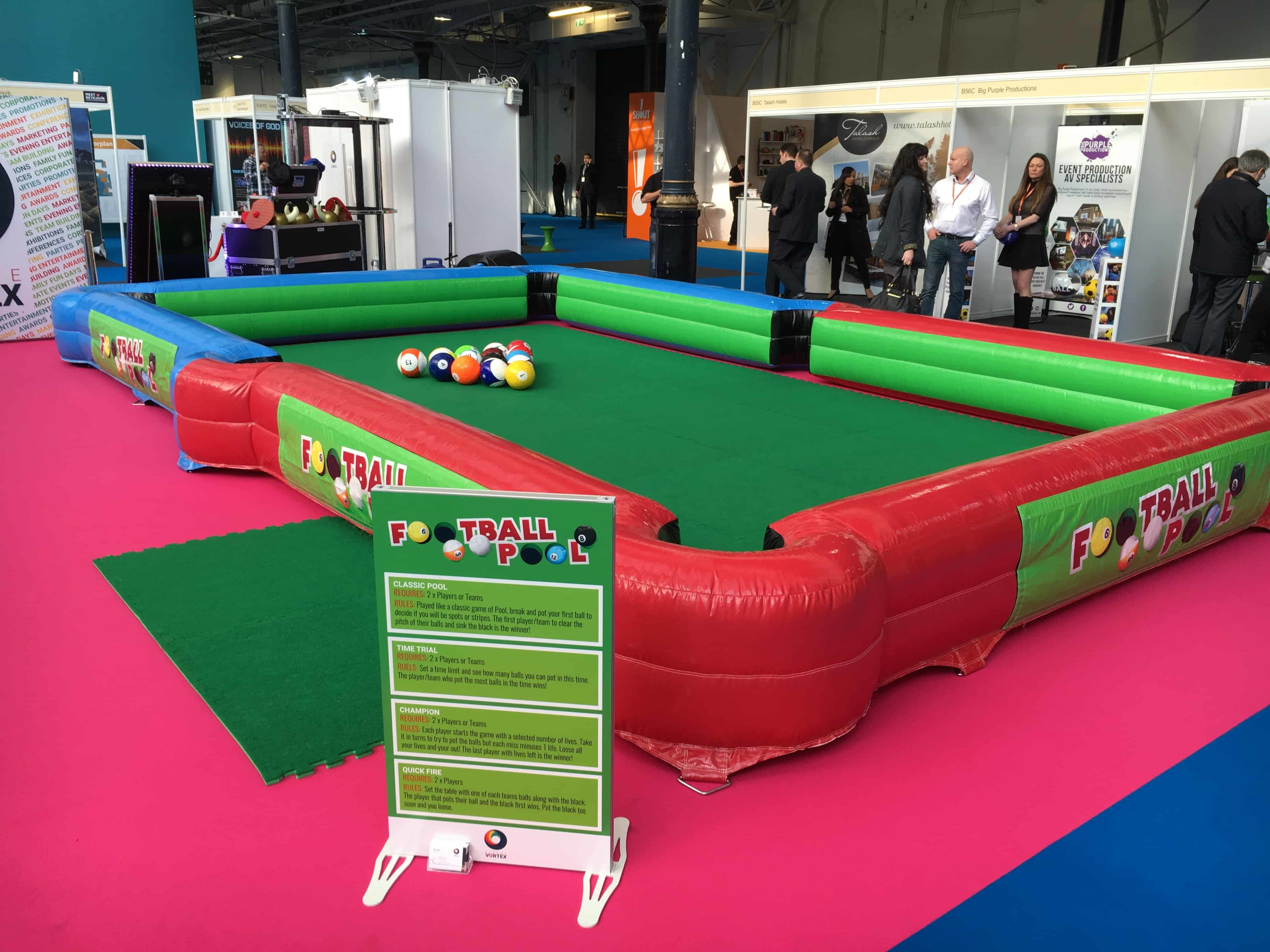 Football Pool - Inflatable Football Sized Pool Table Hire