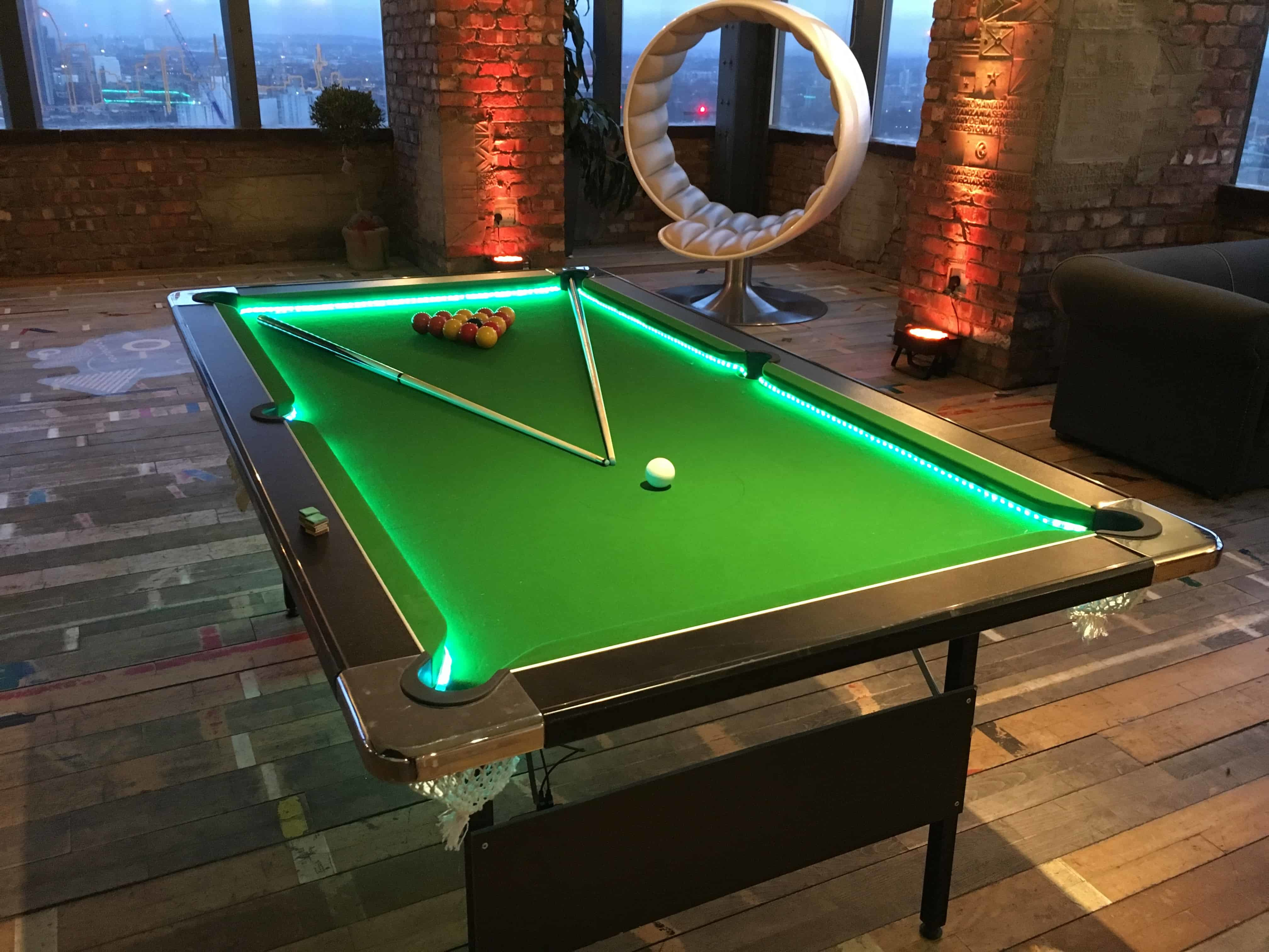 Led American Pool Table Hire For Events London Kent