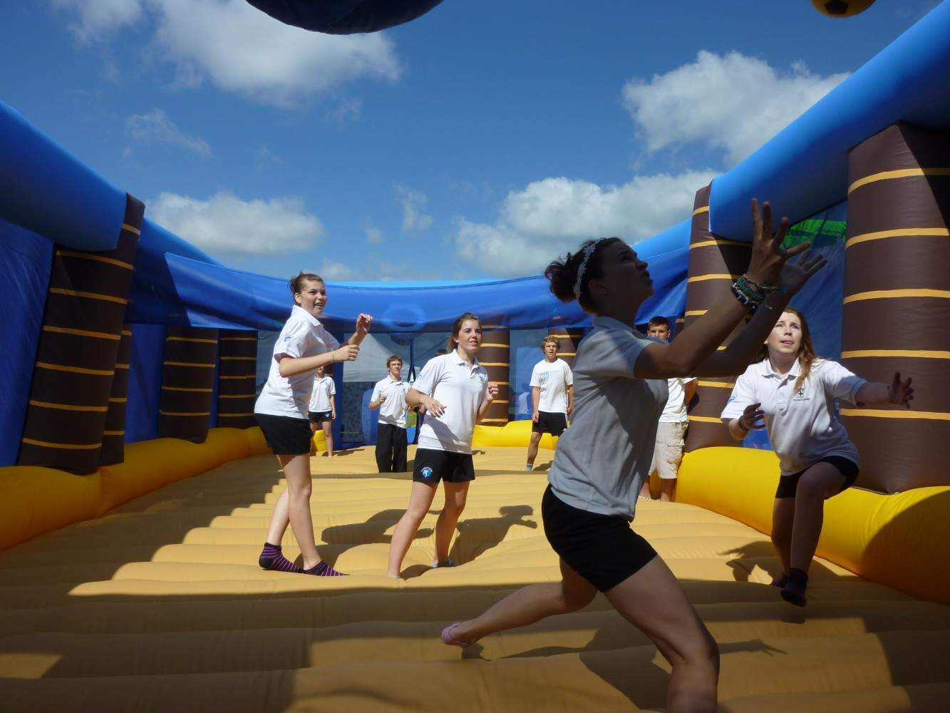 the arena of sports Year-round family friendly soccer for people of all ages & abilities plus cool indoor inflatable funzones, awesome camps, & rockin' birthday parties.