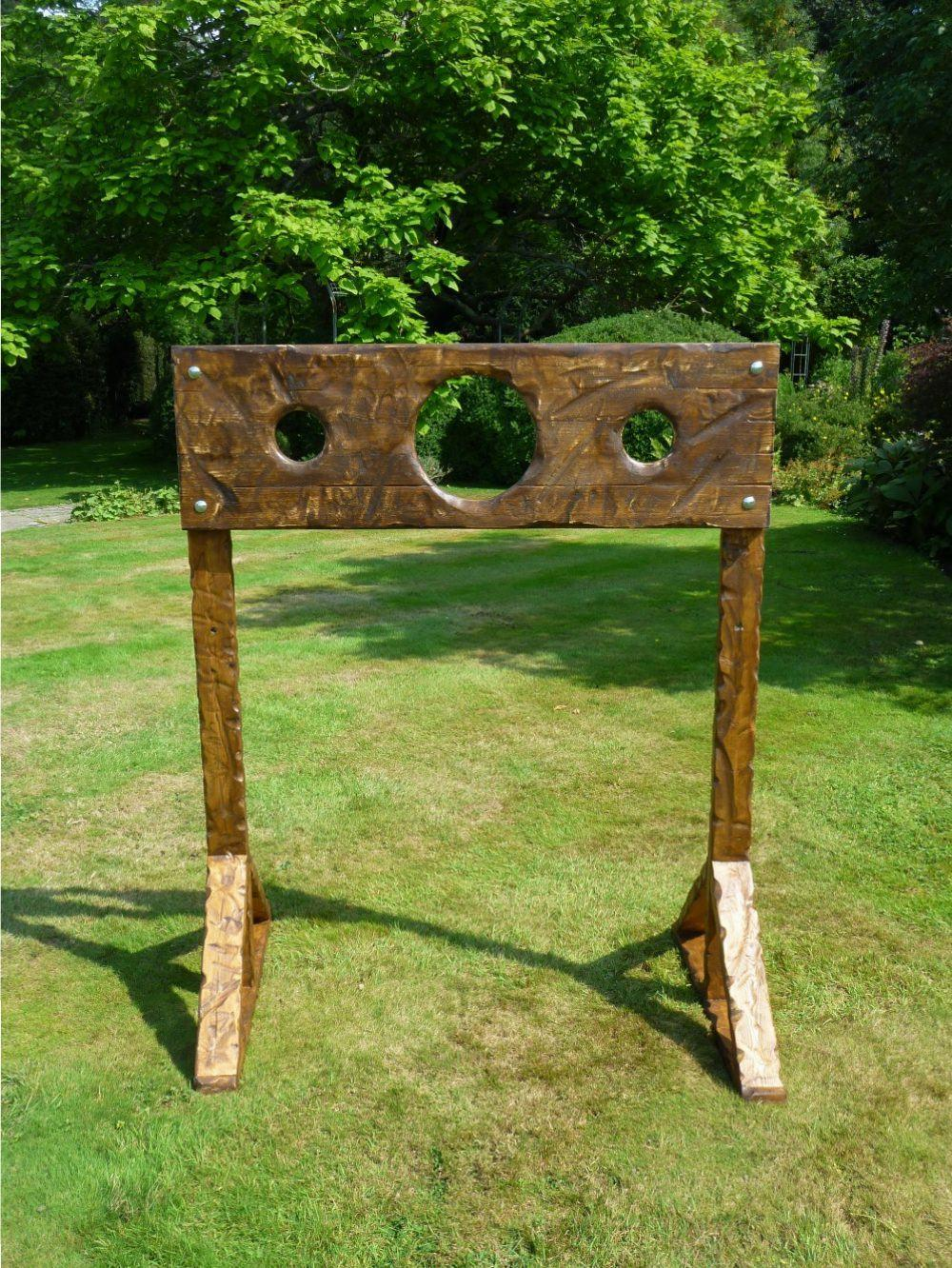 Trade Event Stands : Medieval stocks traditional side stall games hire london