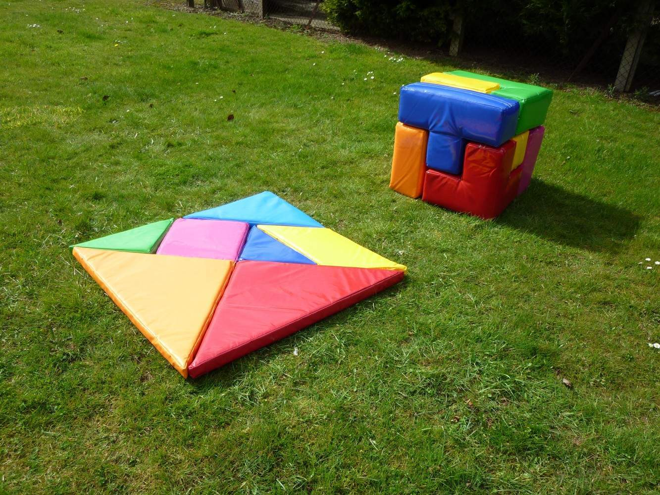 Giant Tangram Puzzle - Team Building Game And Ice Breaker