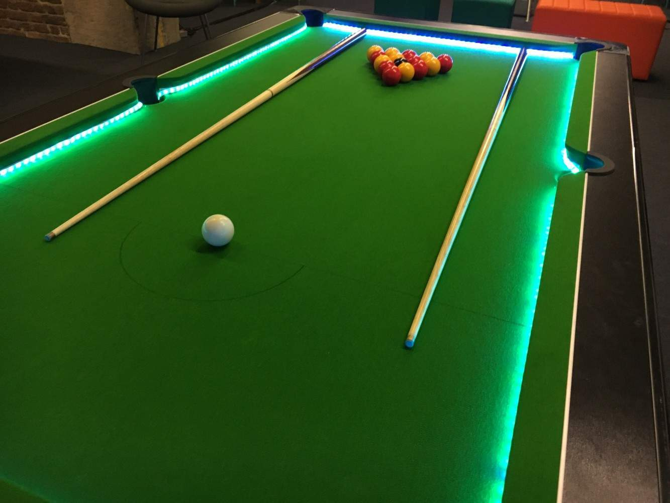 Led american pool table hire for events london kent - Pool table images ...