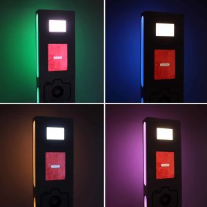 Selfie Photo Booth showing different colours