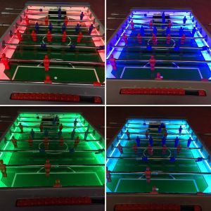 Image showing a few of the choice of colours available on the LED table football games.