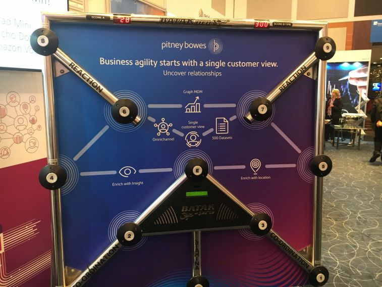 Branded Batak Reaction Game for a trade stand attraction or Pitney Bowes