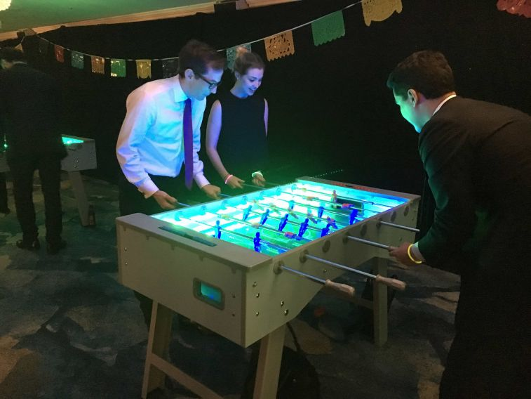 foosball tables with LED Lighting and Players