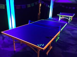Table Tennis completed with UV Lighting