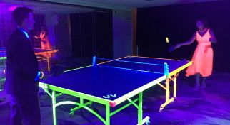 Uv Table Tennis Ping Pong With Ultra Violet Lighting Fx