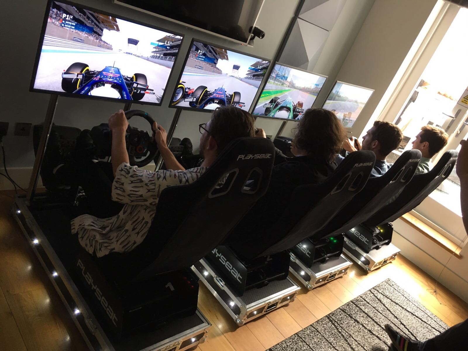 Four Player Race Simulator Hire - Driver Racing Sim Hire