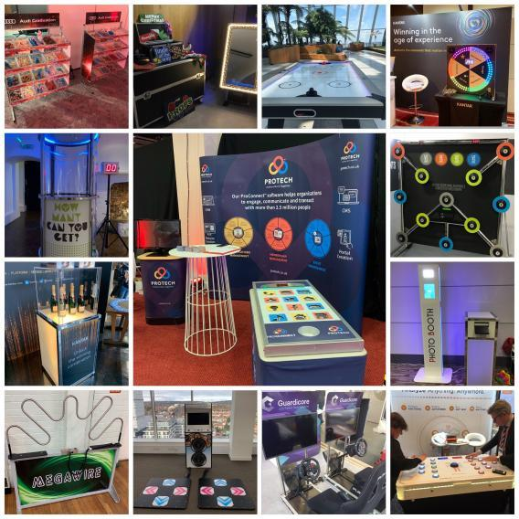 different examples of branded activities in trade shows and exhibitions